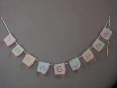Name & Age Garland Crochet