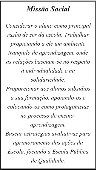 MISSÃO SOCIAL