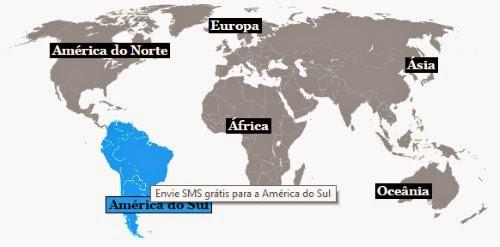 continente para enviar SMS grátis