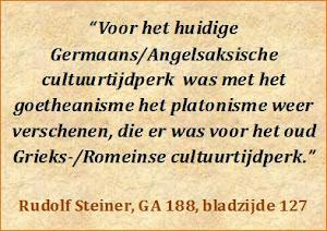 Steiner over Goetheanisme en Platonisme