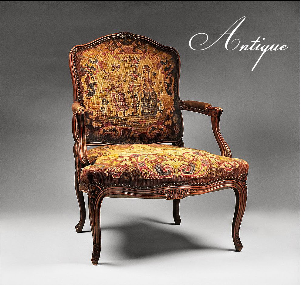 A 1900s Louis XV armchair would be considered as antique. Also, antiques  are considered to be much rarer and more unique. - What's The Difference Between