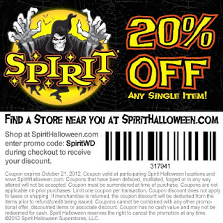 Spirit halloween coupon 2018 in store