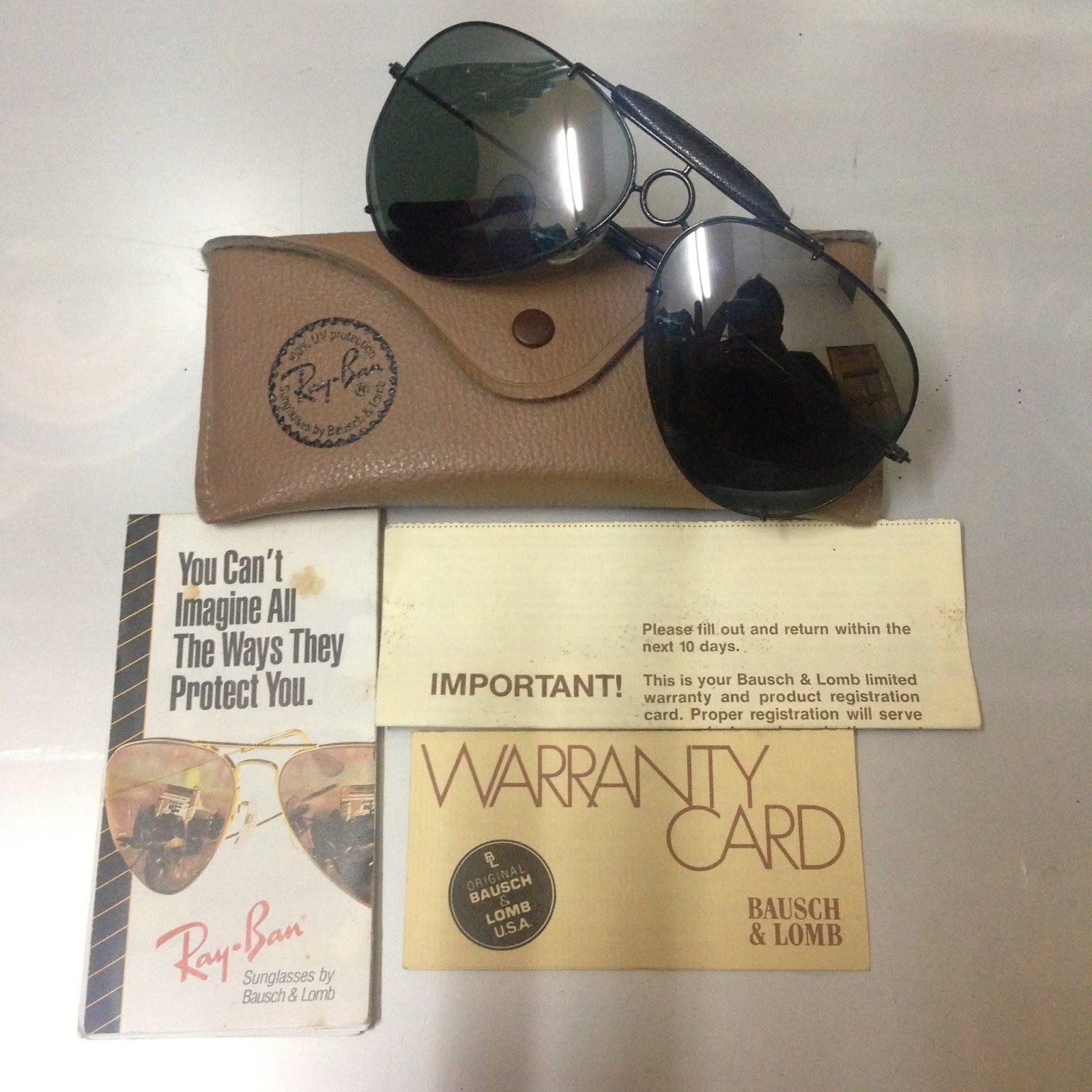 ray ban warranty cabh  Lens : G-31 full mirror lenses Size : 65mm Condition : 9/10 like new  Package : Hardcase original rayban, brochure, warranty card & tag rayban