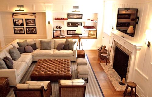 Hướng dẫn bố trí tivi cho phòng khách có Sofa