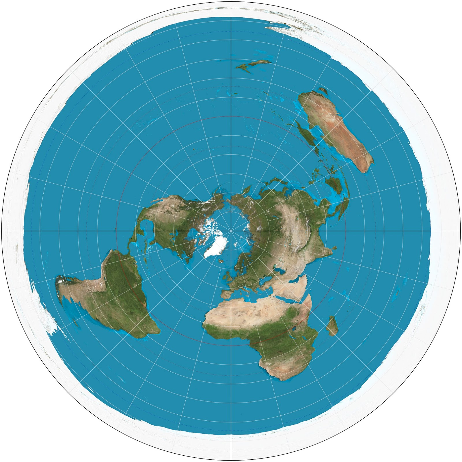 Flat Earth vs Round Earth The Flat Earth Map