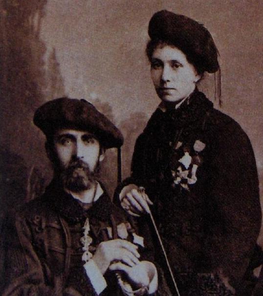 Don Alfonso Carlos I con Mª de las Nieves