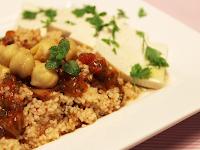 Couscous com Grão-de-Bico e Tomate (vegana)