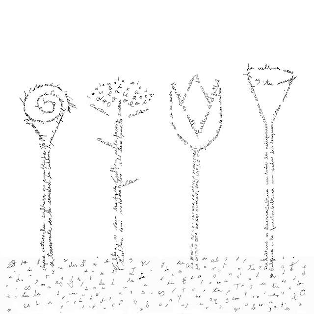flores, cultura, caligrama,