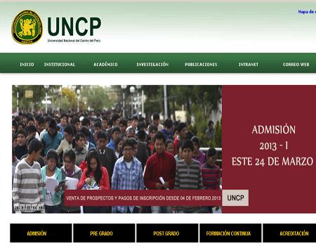 examen admision uncp:
