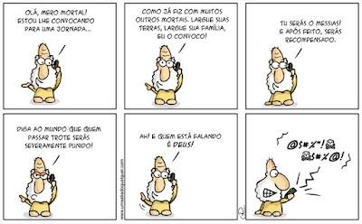 Tirinhas da Luna #56: 'Quem está falando é Deus'   Ordem da Fênix Brasileira
