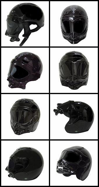 Motorcycle Helmet Skull Shield