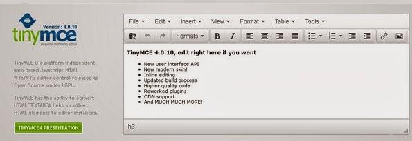 TinyMCE editor