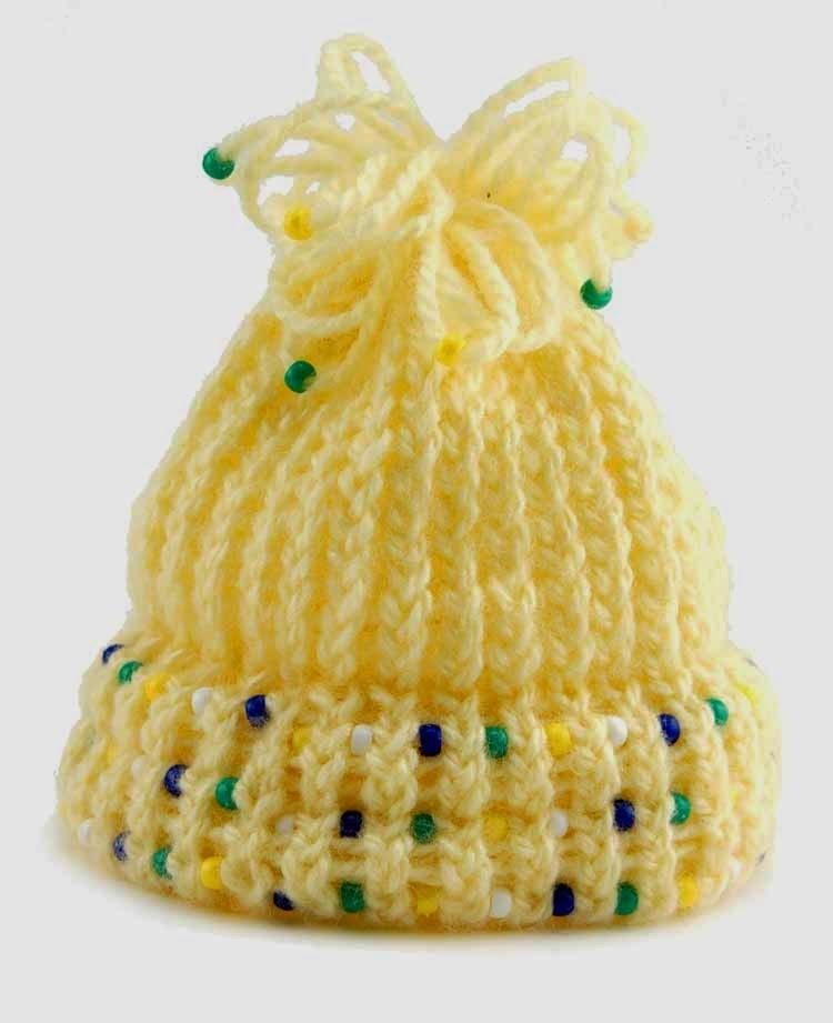 Knifty Knitter Beaded Hat