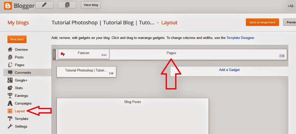 Cara Membuat Menu Page Atau Halaman di Blogspot