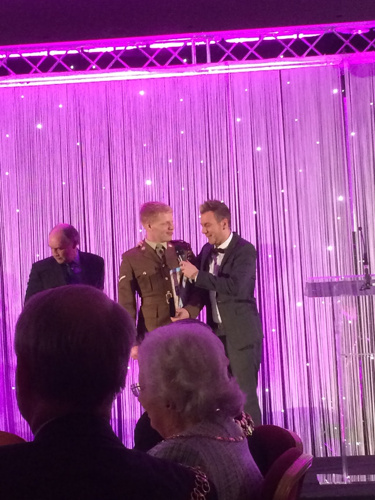 159 Supply Regiment's British Army Reservist LCpl Hoskins receiving his Pride of Coventry Award 2014.