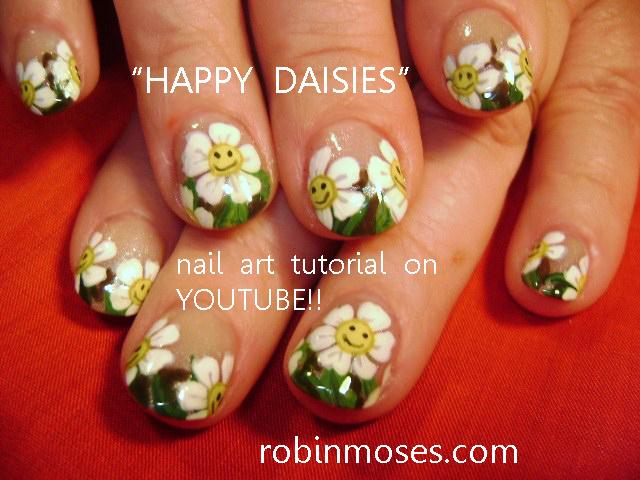 Nail Art Design Roller Derby Rabbit Nail Art Smiling Daisies
