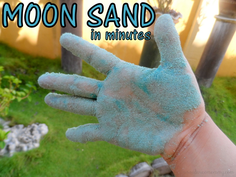 how to make your own moon sand