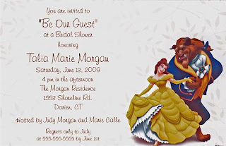 Beauty And The Beast Wedding Invitations Wedding Invitation