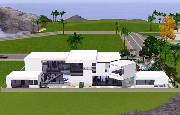 Koalafolio sims3 House LIVING DESIGN MODERN HOUSE THE SIMS 3