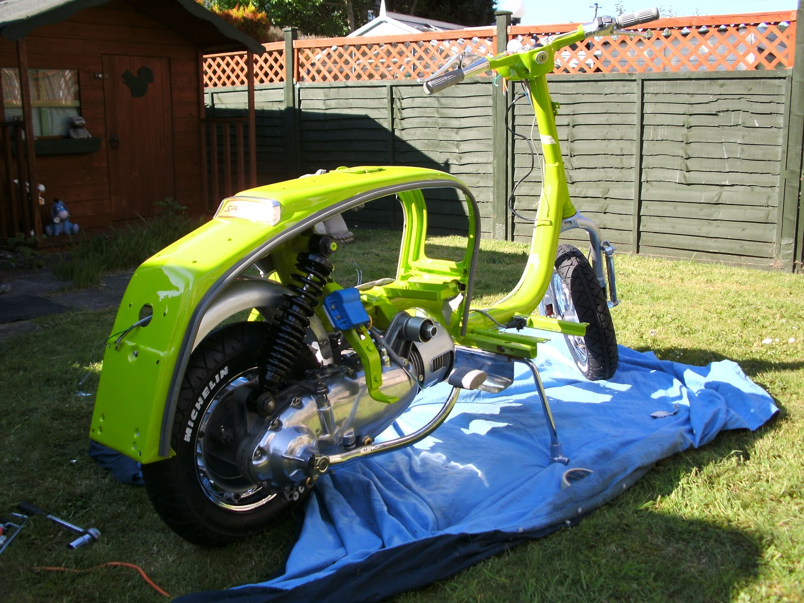 Serveta Lambretta Li 150  Lambretta Engine Goes In