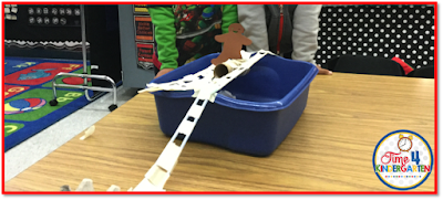 Gingerbread Man activities STEM, Kindergarten