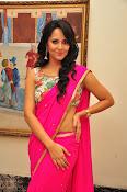 Anasuya dazzling saree photos-thumbnail-13