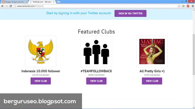 Cara Menambah Followers Twitter dengan Twitclub