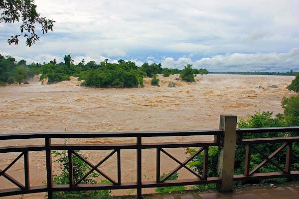 Mirador en las Cataratas Khone Phapheng (Don Khon, Laos)