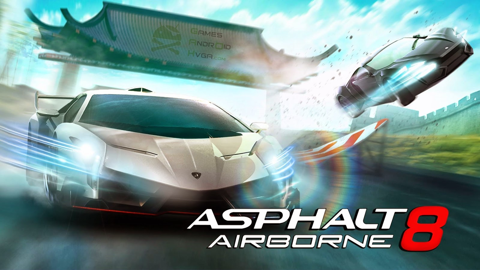 Asphalt 8: Airborne Apk v1.3.0h + Data Mod [Unlimited Money / Torrent]