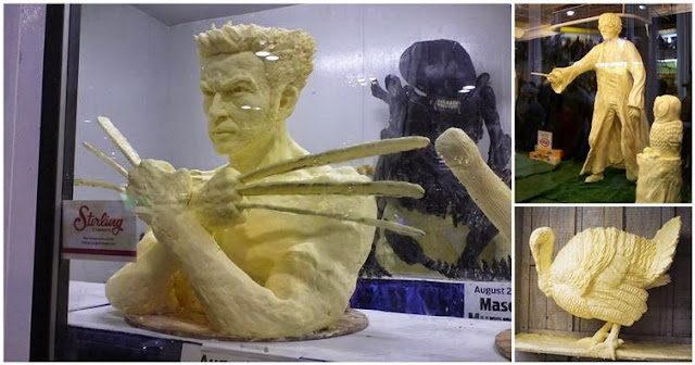16 εκπληκτικά και περίεργα αγάλματα απο βούτυρο!
