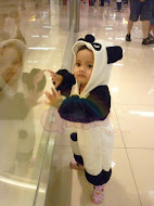 Sara with her Panda Costume