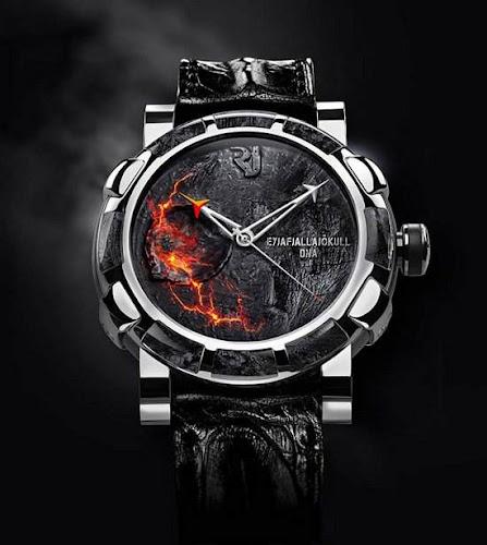 jam tangan dari gunung berapi