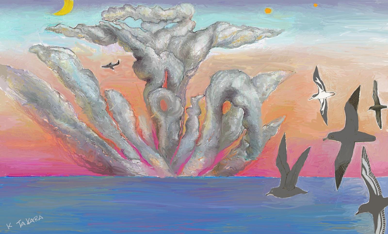 宝デザインkarakoジャパンアートギャラリーgoogle*: 積乱雲の崩壊 (水凪鳥)