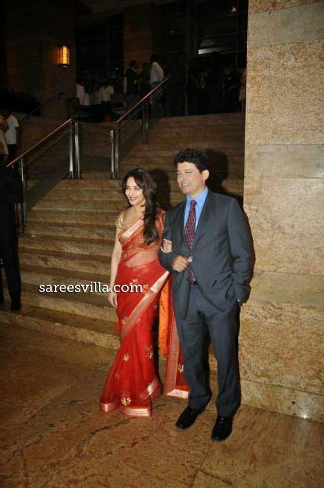 Madhuri Dixit in Red Saree