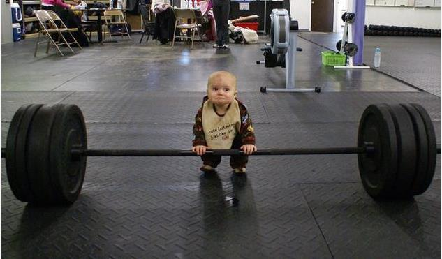 A kid in gym