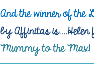 Winner of the Affinitas giveaway!