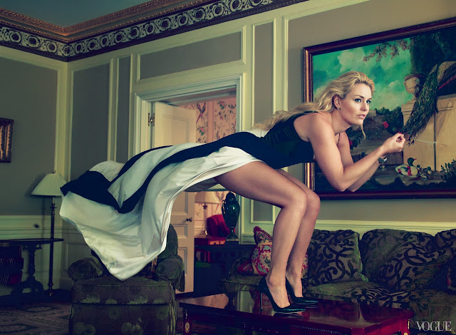 Lindsey Vonn in Vogue US (August) by Annie Leibovitz