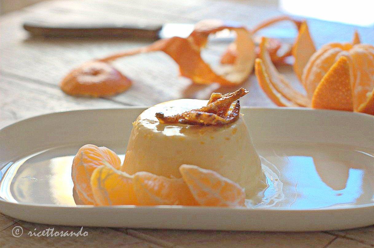 Bavarese al mandarino ricetta di budino al latte e frutta