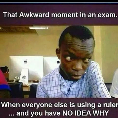 That Moment In Exam