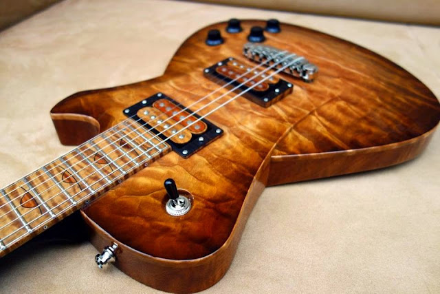 Guitar: Frank Hartung Guitars Embrace Rising Sun