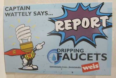 Captain Wattely says REPORT DRIPPING FAUCETS