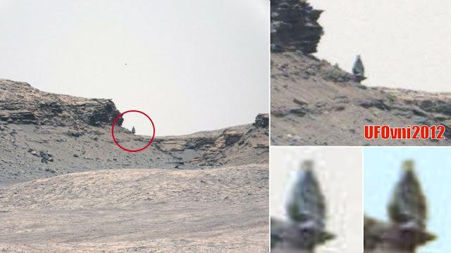"""Ancienne figure de statue """"Le guetteur"""" découvert sur la planète Mars"""