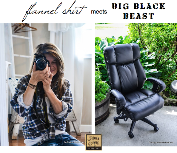 comfy quality office chair story at Funky Junk Interiors