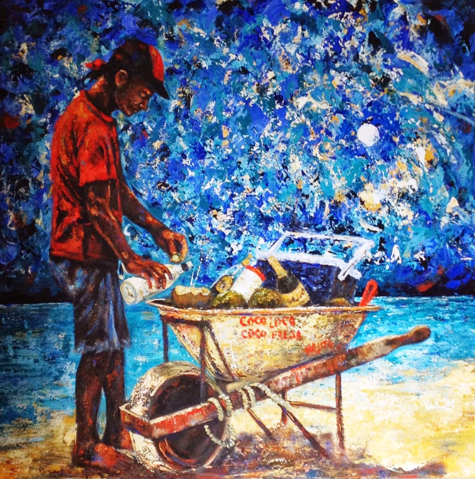 COCO LOCO  Mixta Acrilico sobre lienzo 100 x 100 cm Autor Diana Francia