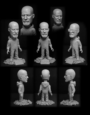 Mezco Breaking Bad Walter White Bobble Head Sculpt by Trevor Grove