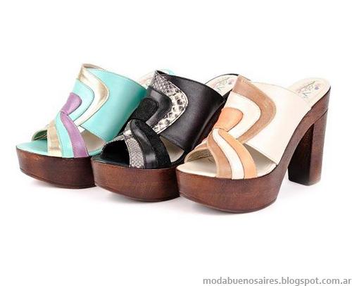 Viamo primavera verano 2013. Zapatos, sandalias, suecos, creepers.