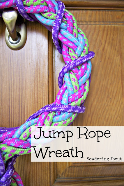 Jump Rope Wreath from Sowdering About