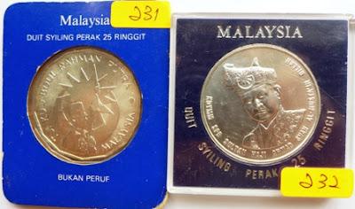 Malaysia RM25 25th Anniv BNM 1984