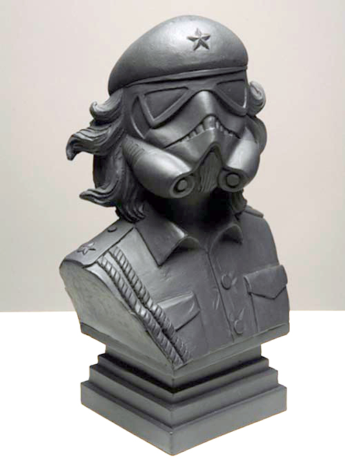 Korda image of Che Guevara combined with Star Wars Storm Trooper sculpture