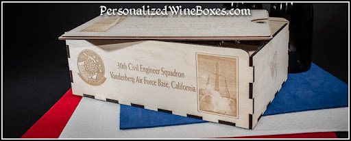 wood wine box, retirement gift